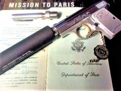 INTERNALLY THREADED .25 CAL STAINLESS STEEL BARREL. SUPPRESSOR ADAPTER. THREAD COVER. NATURAL FINISH
