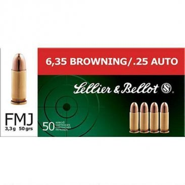 SELLIER & BELLOT .25 CALIBER AMMUNITION #SB25A